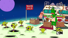 Uncle Grandpa, Belly Bag, Pizza Steve, and Mr. Gus in Tag Sale 05.png