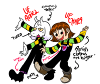 Asriel and Chara Underfell