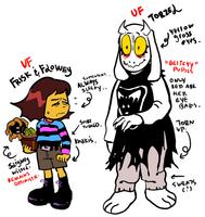 Frisk, Flowey and Toriel
