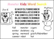 Monster Kidz Word Search screenshot Nightmare.png