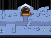 Snowdin Forest location Dog House.png