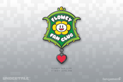 Flowey artwork Flowey Fan Club pin