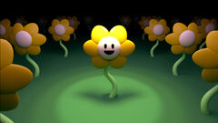 Flowey artwork Steam card