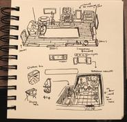 Artbook Livingroom and Kitchen