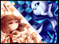 Chesstale sans and frisk checkmate kid by walkingmelonsaaa-da22l0i.png