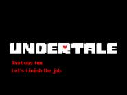 Undertale Demo screenshot Genocide ending