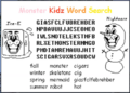 Monster Kidz Word Search