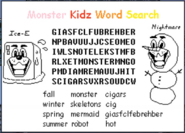 Monster Kidz Word Search