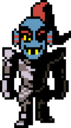 Undyne Overworld armor without helmet.png