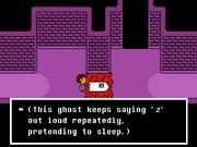 Napstablook screenshot first encounter.png