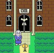 Toriel & Monster kid at school