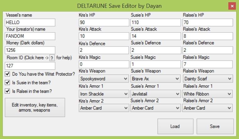 DELTARUNE Save Editor