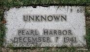 Pearl Harbor John Doe (1941-F-68)