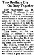 Thomas and Hugh Johnson Newspaper Article