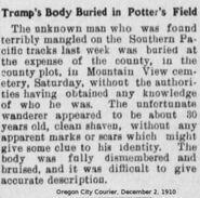 Clackamas County John Doe (November 26, 1910)