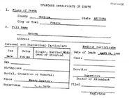 Phoenix John Doe (April 1898) Death Certificate