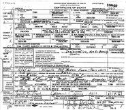 Yuma John Doe (1961) Death Certificate
