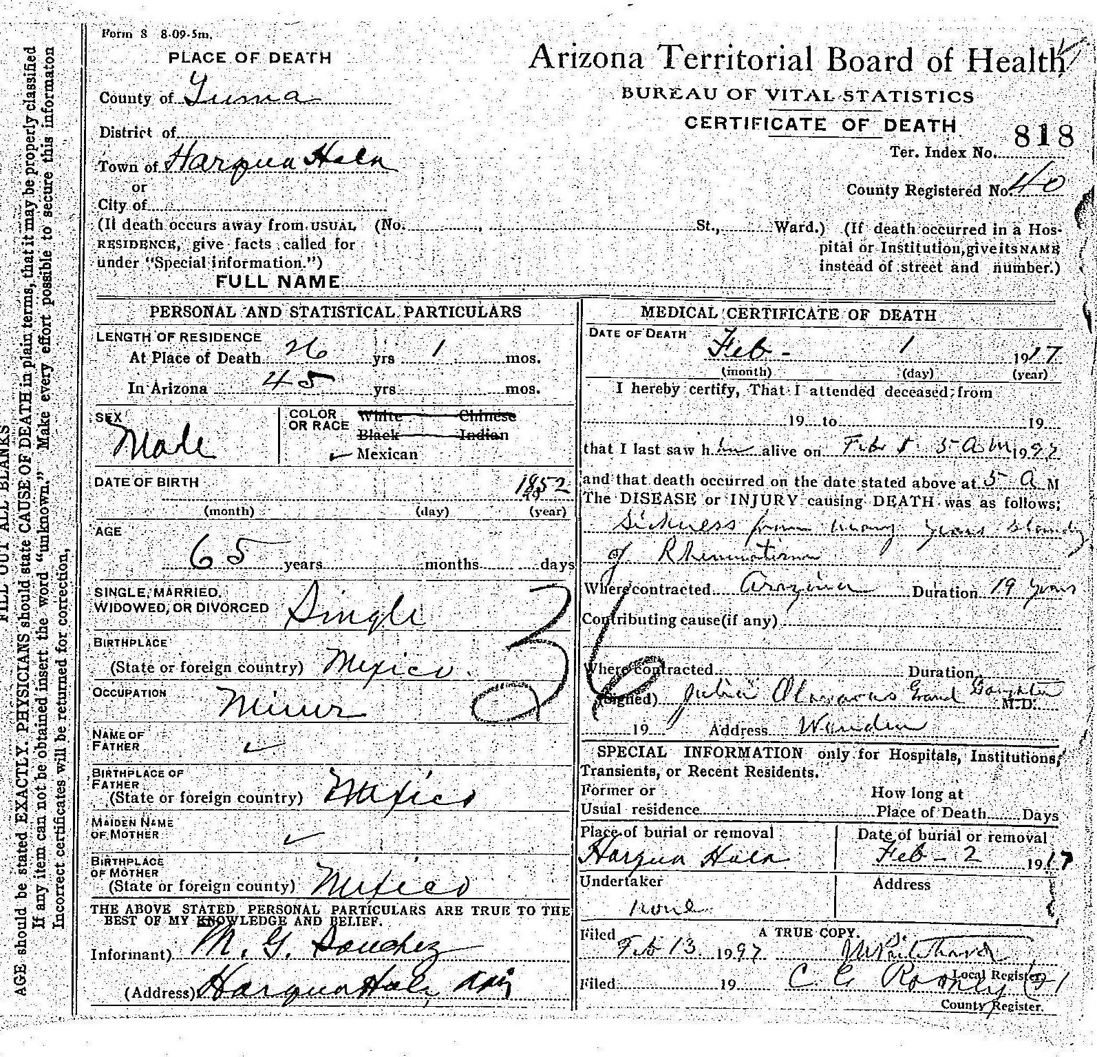 Maricopa County John Doe (1917)