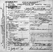 New Castle County John Doe (July 25, 1934)