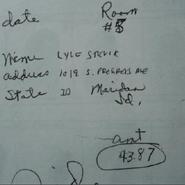 Lyle Stevik Note