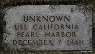 Pearl Harbor John Doe (1941-E-707)