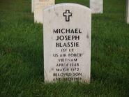 Tombstone of 1Lt Michael Joseph Blassie
