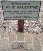 Julie Valentine memorial