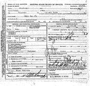 Phoenix John Doe (March 10, 1928) Death Certificate