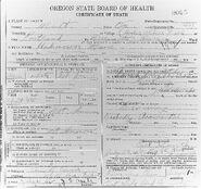 Multnomah County John Doe (July 30, 1925)