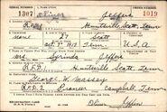 Oliver Jeffers Registration Card 1