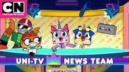 Unikitty Uni-TV News Team Cartoon Network