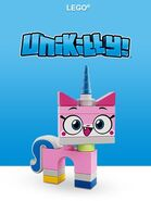 Unikitty lego theme logo
