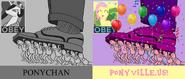 Ponychan vs Ponyville
