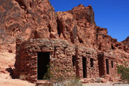 A502, Valley of Fire State Park, Nevada, USA, Civilian Conservation Corps cabins, 2016
