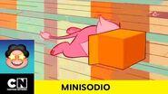 A León le encanta acomodarse en una caja Steven Universe Cartoon Network