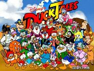 DuckTales logo with characters