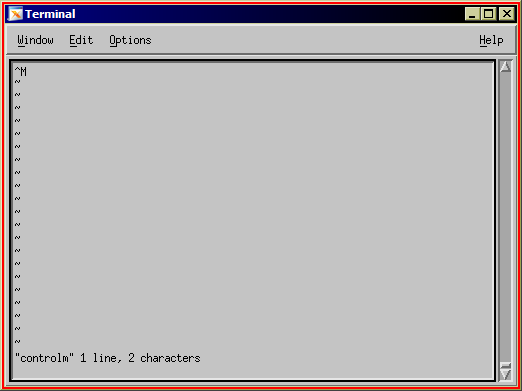 Viewing a file in vi with one Windows Newline character