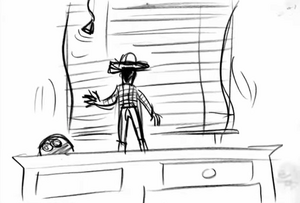 Woody closes the window
