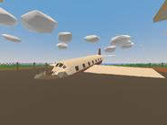 Belfast Airport - crashed plane