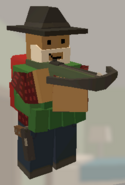 Player holding Crossbow