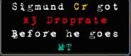 Sigmund x3 Droprate