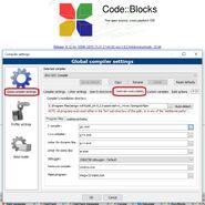 Codeblocks setup