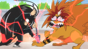 Episode 2 - Tora's hand stabbed by the Spear