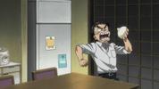 Episode 1 - Ushio threatening to eat his dad's chinese bun