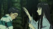 Episode 32 - Sumako about to pat Ushio's head