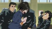 Episode 1 - Asako defending Ushio