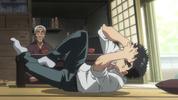 Episode 1 - Ushio reeling in pain
