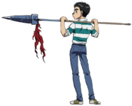 Ushio Striped Shirt + Jeans