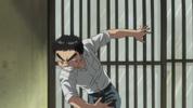 Episode 1 - Ushio angrily shutting the door
