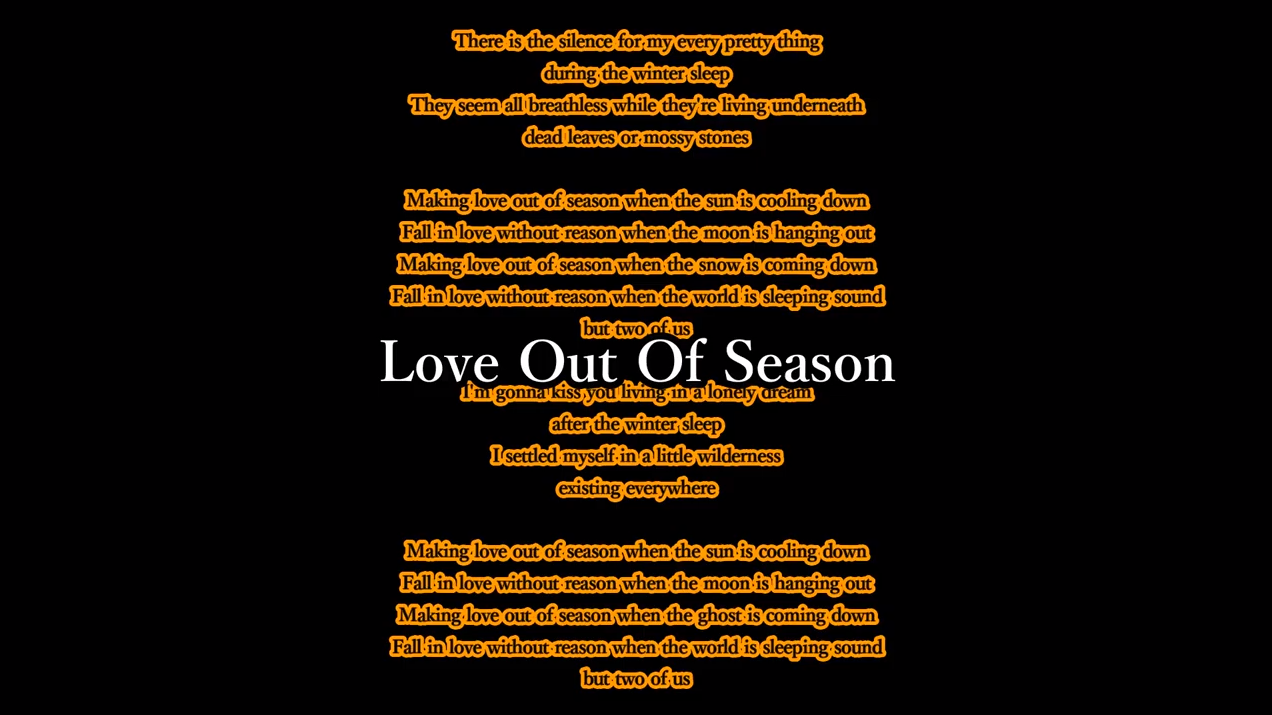 Love Out Of Season